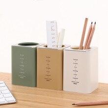 Box Pen-Holder Desk-Organizer Pencil-Pot Office School Cute Storage-Box Desktop Plastic