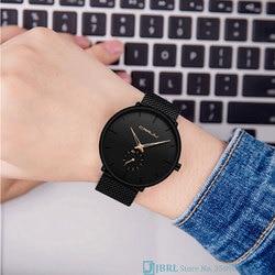 Black Quartz Watch Women Watches Famous Brand Ladies Wrist Watch For Women Clock Female Stainless Steel Wristwatch Business Hour