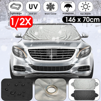 Hot New Universal Car Winter Sunshade Cover Car Front Windscreen Cover Windshield Snow Sun Shade Waterproof Protector Cover|Car Covers|Automobiles & Motorcycles -