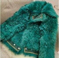 Paris Fashion Winter New Fur One Locomotive Clothing Granule Sheep Shearing Circle Fur Lamb Coat Female Short