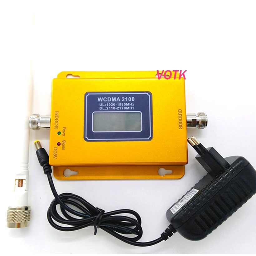 70dbi High Gain 3G Signal Booster Mobile Phone 2100mhz WCDMA Signal Repeater Celluar Signal Amplifier With Indodor Antenna