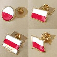 Герб Польши польский карта Национальный флаг Эмблема с национальным цветочным брошь значки нагрудные знаки