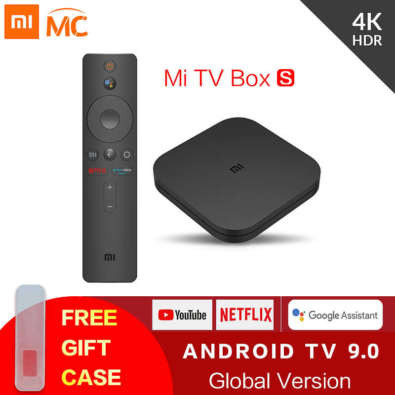 Originale Globale Xiaomi Mi TV Box S 4K Ultra HD Android TV 9.0 HDR 2G 8G WiFi google Cast Netflix Smart TV Mi Box 4 Lettore Multimediale