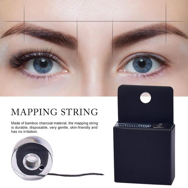10m Mapping pre-ink string for Microblading eyebow Make Up Dyeing Liner Thread Semi Permanent Positioning Eyebrow Measuring Tool 4