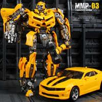 23cm YX Transformation MMP03 Modell Camaro BBumbleb Schlacht Klingen MPM03 Metall Teil Action Figure Verformt Spielzeug Roboter Auto Hornet