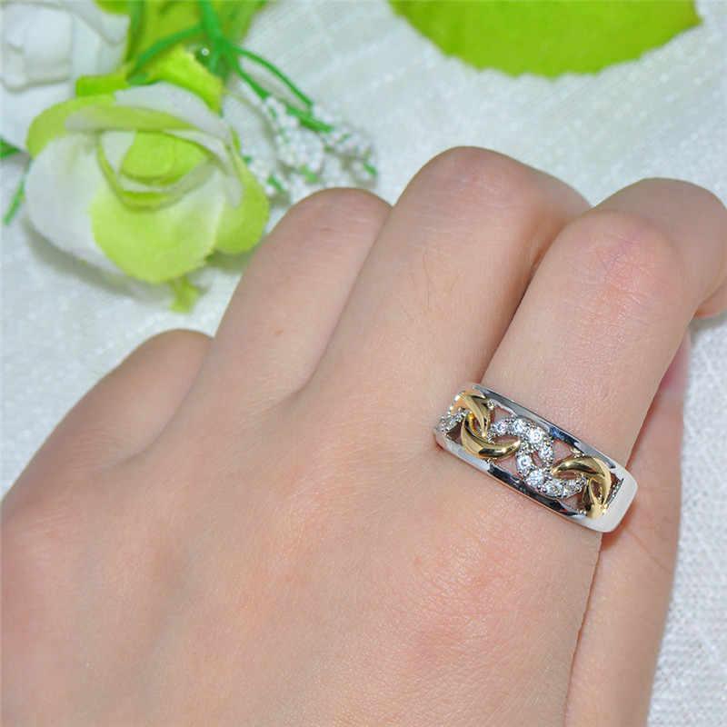ใหม่ VINTAGE แหวนนิ้วมือผู้หญิงยุโรปสไตล์ผสมสีแหวนผู้หญิงแฟชั่นเครื่องประดับแหวนของขวัญ Size6.7.8.9.10