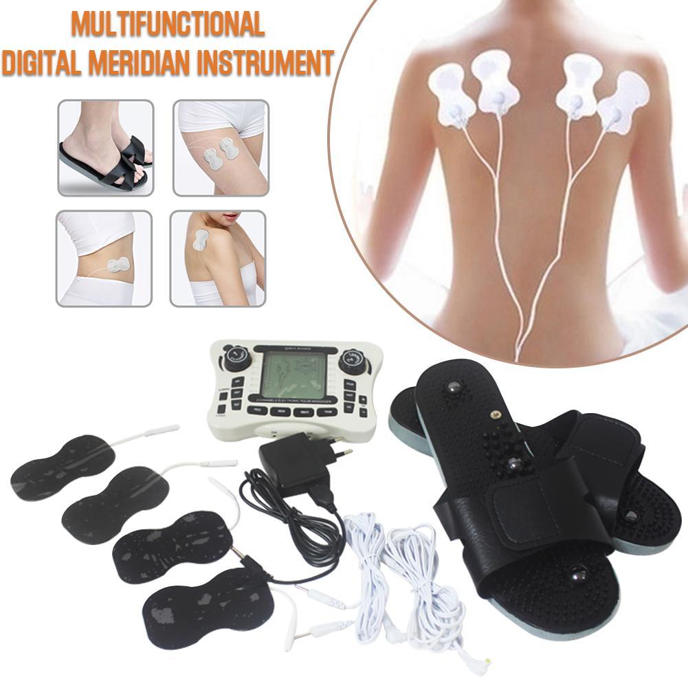 4 пластырь акупунктурный массажный инструмент + мускулистое тело домашний расслабляющий мышцы Пульс Tens акупунктурная терапия тапочки массаж 25P