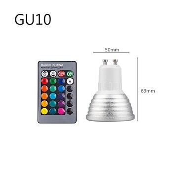 E27 E14 RGB Led Bulb 3W 5W 10W 15W Dimmable 16 Color Changing Magic Bulb Gu10  AC 220V 110V RGB White IR Remote  Night Light C3 7