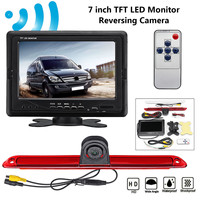 7 TFT LED Monitor Reversing Backup Rear View Camera Parking For Mercedes Benz for Dodge Sprinter for VW Crafter 2006 2015