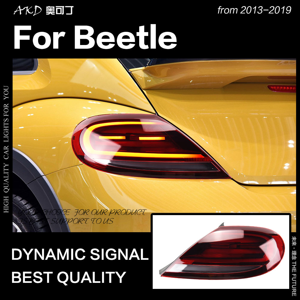 Car Styling for VW Beetle Tail Lights 2013-2019 LED Dynamic Signal Tail Lamp LED Tail Light DRL Brake Reverse auto Accessories