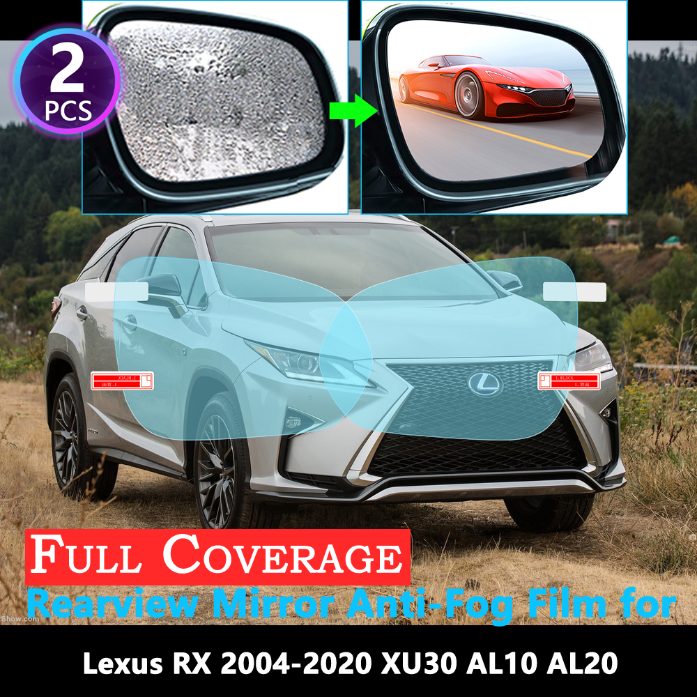 Full Cover Protective Anti Fog Film for <font><b>Lexus</b></font> RX RX300 RX330 RX350 RX270 <font><b>RX200t</b></font> RX450h 350 2004~2020 Rearview Mirror Rainproof image