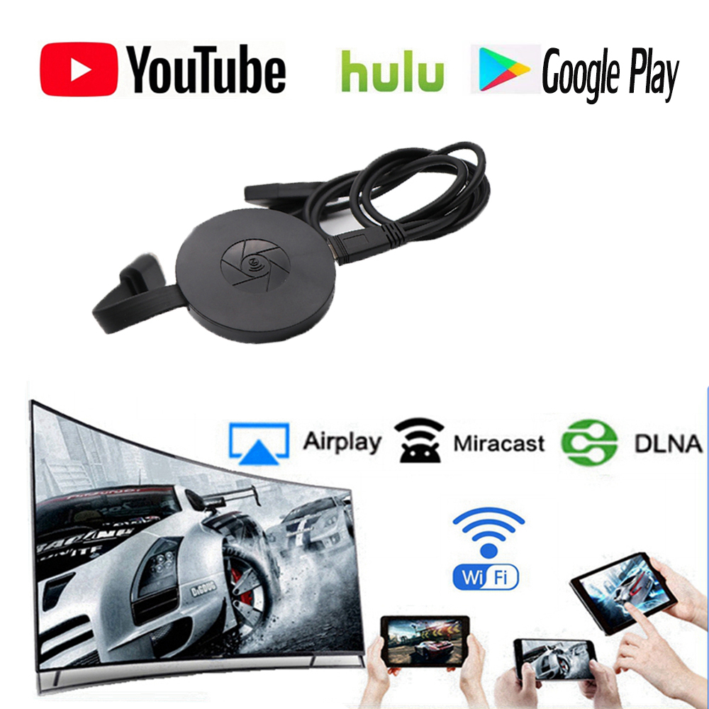 Newst 1080p WiFi Display Dongle YouTube AirPlay Miracast TV Stick for Google Chromecast 2 3 Chrome Crome Cast Cromecast 2