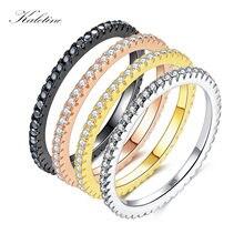 Kaletine удачи 925 серебряные кольца для женщин Классическая