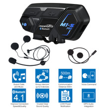 Купить с кэшбэком Fodsports M1-S Pro helmet intercom motorcycle helmet bluetooth headset 8 riders 2000M group intercom BT Interphone