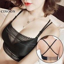 CINOON 2019 Women Sexy Lingerie Corset Lace Wireless Bralette Bra Ultrathin Underwear Sheer Crop Tops Brassiere