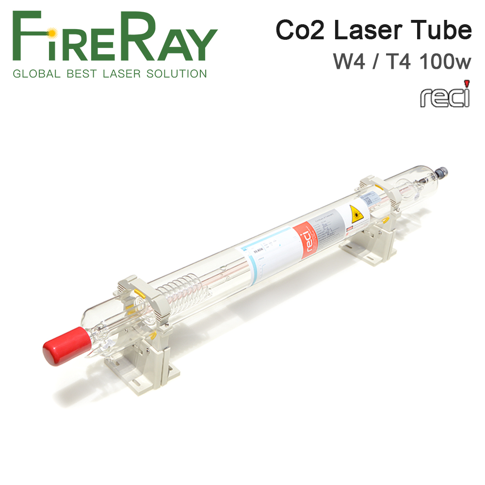 FireRay Reci W4 T4 100W Co2 Laser Tube Dia. 80mm 65mm Length 1400mm For Co2 Laser Engraving Cutting Machine S4 Z4