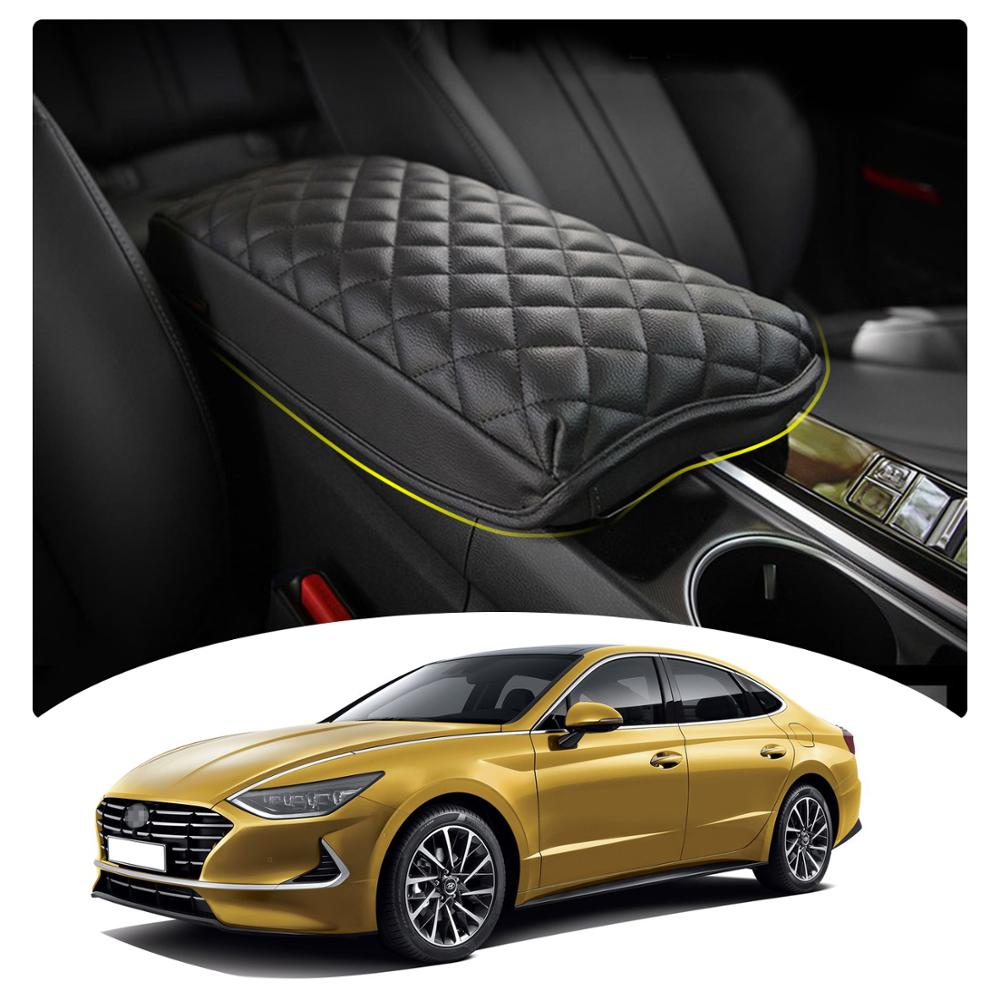 LFOTPP Car Armrest Box Cover For Sonata DN8 2020 Central Control Armrest Container Pad Auto Interior Dedication Accessories Armrests    - AliExpress