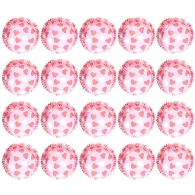 100 Pcs Kue Baki Kertas Pencetakan Warna Muffin Cangkir Kertas Tahan Minyak Kue Cangkir Kertas Kue Pesta Tray alat Dekorasi Kue