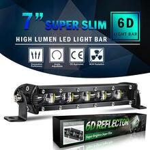 8 polegada 480w led trabalho barra de luz ponto inundação feixe offroad 4wd suv condução nevoeiro lâmpada