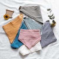 Детский нагрудник, шарф для детей ясельного возраста, хлопковое треугольное полотенце, слюна, полотенце, соска, зажим, цепь, зимний шарф с ки...