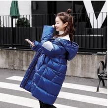 2019 Winter Down cotton Thick Parka Womens Glossy Hooded Jackets Warm Armband Bread service Loose Coat Women