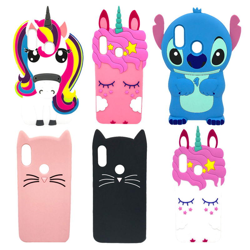 3D Cartoon Pony Unicorn Pink Stitch Bear Cat Silicone Cell Phone <font><b>Case</b></font> For <font><b>Samsung</b></font> <font><b>Galaxy</b></font> A50 A30 <font><b>A20</b></font> Horse Cover Back Coque Bags image