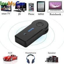Receptor de música Bluetooth para coche, manos libres, transmisión Universal de 3,5mm, conector adaptador de Audio auxiliar inalámbrico A2DP para teléfono y MP3