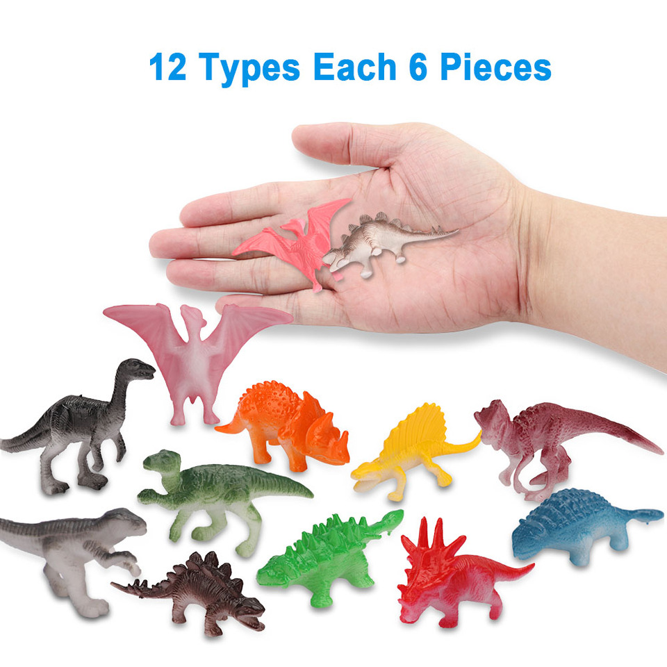 Mini Dinosaurios De Juguete Niños Juguete Dinosaurio 72 Pcs Set Para Cumpleanos