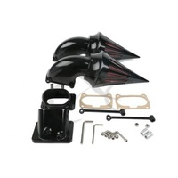 Motorcycle Black/Chrome Aluminum Twin Dual Air Cleaner Intake Filter For Suzuki Boulevard M109R M109 R