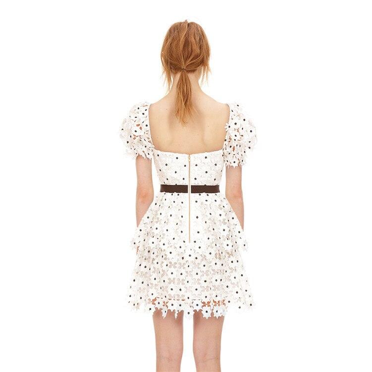 Vestido de designer de pista de verão