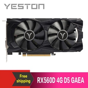 Yeston Radeon RX560D 4GB GDDR5 PCI Express 3.0 DirectX12 video gaming graphics card external graphics card for desktop