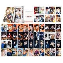 54 pçs kpop caçoa lomo cartões desbloquear novo álbum de fotos 2021 temporada saudação felix hyunjin bang chan straykids k-pop photocards