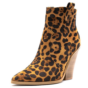 Image 2 - FEDONAS Botas de invierno de talla grande para mujer, zapatos para fiesta, Club nocturno, estilo clásico occidental, Botines de Cuero