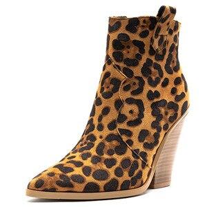 Image 2 - FEDONAS חורף נקבה בתוספת גודל שמנמן עקבים מסיבת לילה מועדון נעלי אישה מותג נשים עור קרסול מגפי קלאסי מערבי מגפיים