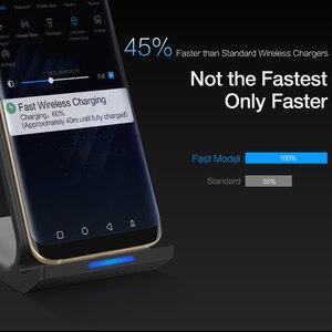 Image 3 - 10W Caricatore Senza Fili per Samsung Galaxy Note 10 S10 S9 Wireless Veloce di Ricarica Del Supporto Del Basamento per il iPhone 11 X xs Max 8 Plus Adattatore