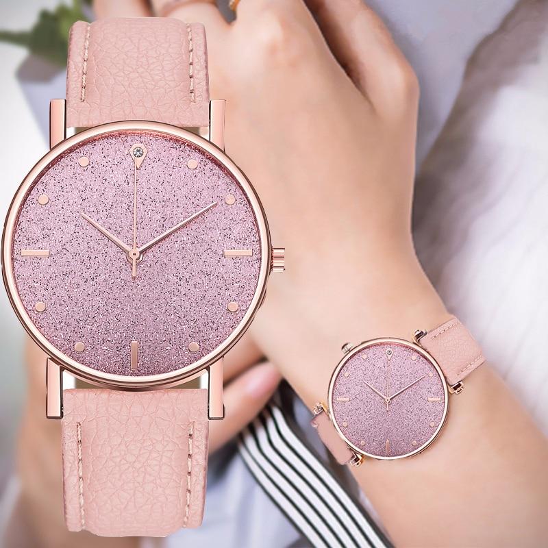 Women Quartz Watch Imitation Leather Belt Starry Sky Watch Fashion Lady Wristwatch Gift Clock Montre Femme