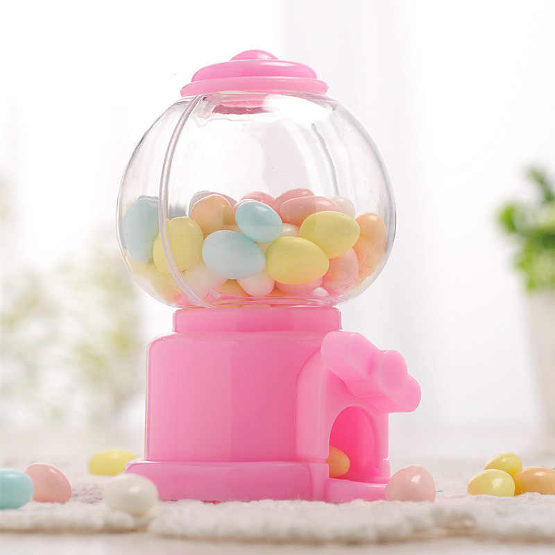 Cute Mini Candy Machine Creative Bubble Gumball Machine Dispenser Coin Bank Kids Toy Children Gift Candy Dispenser C1129 d