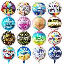 7 sztuk 18 cal urodziny tematyczne z balonów foliowych helem okrągły balon dla dorosłych dekoracja na przyjęcie z okazji urodzin dla dzieci baby shower globos