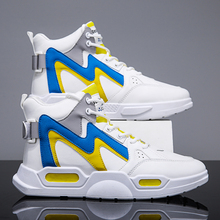 BIGFIRSE Men Casual Shoes Light New High-top Platform Sneake