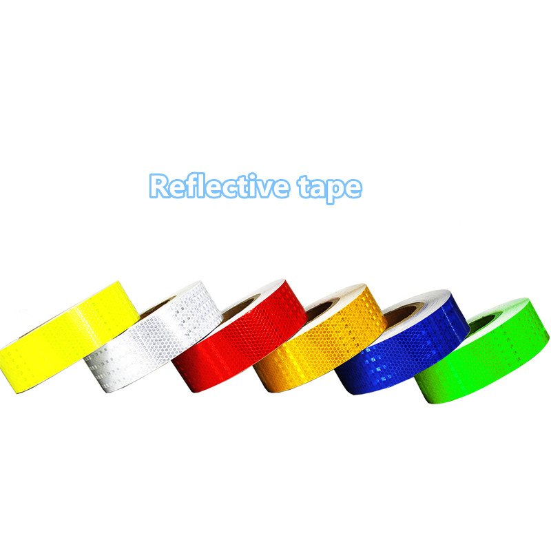 Reflective Tape 5 Cm Road Safety Warning Tape Reflective Warning Of Lattice Reflective Membrane Body Posts