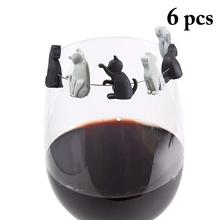 Tag-Signs Labels Marker Charms Drinking-Buddy Cup Identification Wine Glass Silicone