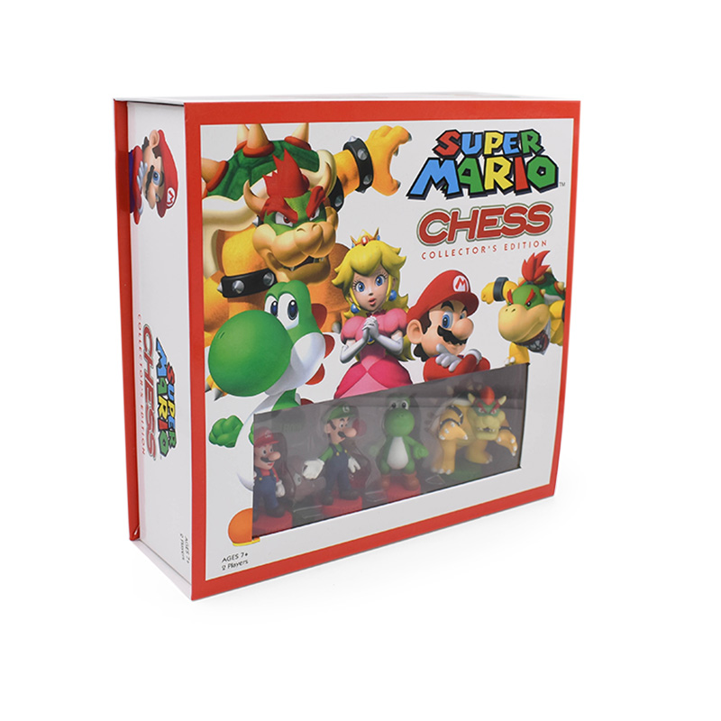 32Pcs/Set Super Mario Bros PVC Action Figures Toys Yoshi Peach Princess Luigi Shy Guy Odyssey Donkey Kong Chess Game Doll 5