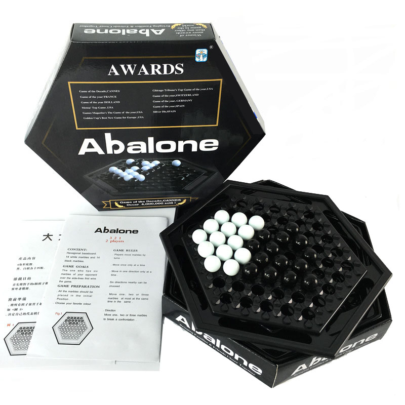 Abalone Table Games Chess Set Board Game Push Chess Desktop Party Game Home Games Go Chess Puzzle Game Child Student Kid Gift