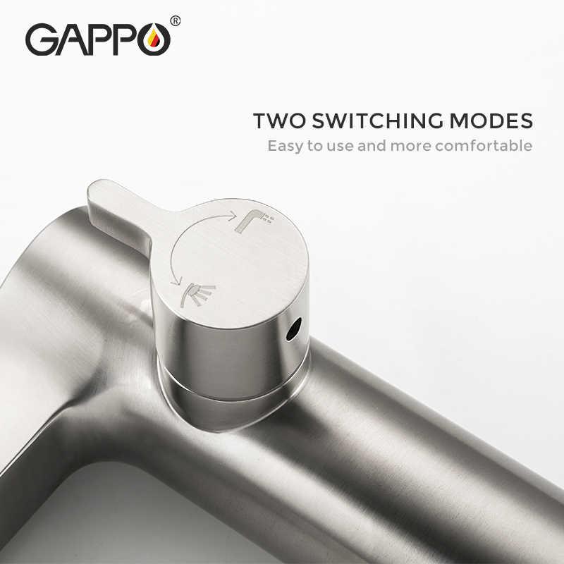 GAPPO ฝักบัวก๊อกน้ำห้องน้ำอ่างอาบน้ำทองเหลืองก๊อกน้ำอาบน้ำแตะ Chrome ฝักบัวหัว Wall TAP หมุนเวียน Baignoire