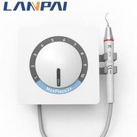 Lanpai-escarificador Dental multifunción, limpieza ultrasónica, para dientes, MP3 + (adaptación EMS) con puntas de trabajo gratis y luz LED