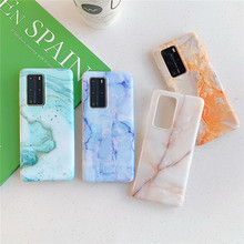 Luxury Fashion Glossy Marble Phone Case For Huawei P40 Pro P30 P20 Lite Pro Soft TPU Back Cover For Huawei Mate 30 20 Lite Pro cover case for huawei mate 10 pro soft carbon fiber luxury tpu