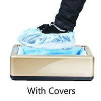 One time Automatic Shoe Cover Machine Home office Intelligent Shoe Sleeve Tool Disposable Foot Cover Machine Shoe Film Device Shoe Racks & Organizers    -