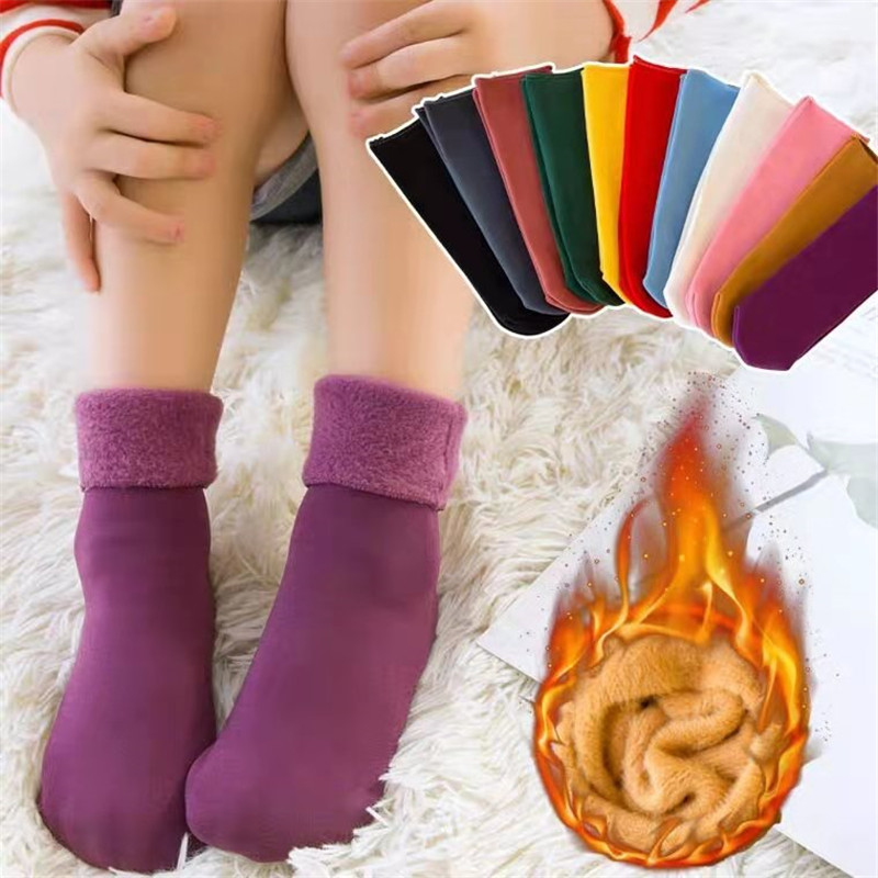 3 Pairs/Lot Real Woolen Thick Baby Kids Socks Winter Soft Warm Socks For Children 3-12 Years Boys Girls Thermal Floor Socks