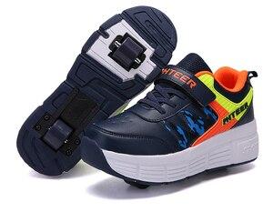 Image 4 - EUR 31 42 ילדי Junior רולר סקייט נעלי ילדים סניקרס עם אחד/שני 2020 בני בנות נעלי גלגלים למבוגרים מזדמנים נערי נעליים