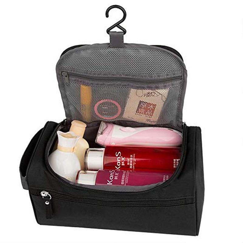 SHUJIN Makeup Bag Wash Toiletry Bag Man Women Waterproof Cosmetic Bag Business Makeup Case Women Travel Trousse De Toilette